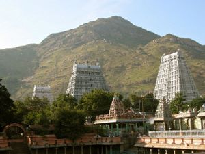 Tiruvannamalai township tower mountain.png